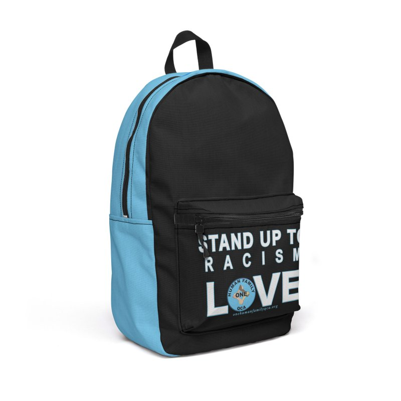 Stand Up To Racism - Love One Human Family Accessories Backpack Bag by Leading Artist Shop