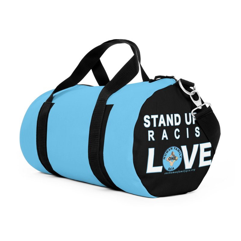 Stand Up To Racism - Love One Human Family Accessories Duffel Bag Bag by Leading Artist Shop