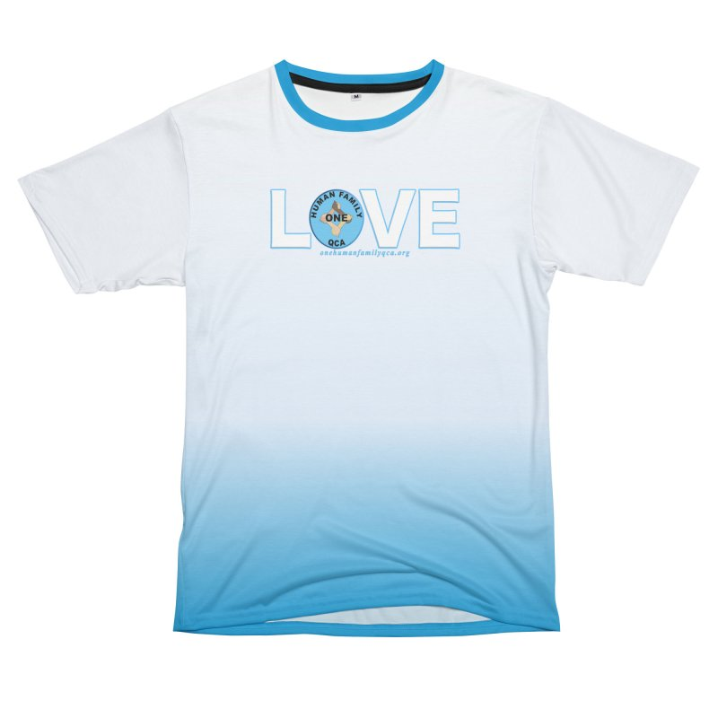 Stand Up To Racism - Love One Human Family Women's Unisex T-Shirt Cut & Sew by Leading Artist Shop