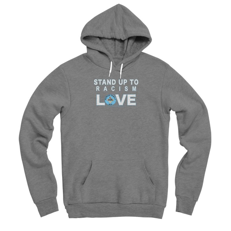 Stand Up To Racism - Love One Human Family Men's Sponge Fleece Pullover Hoody by Leading Artist Shop