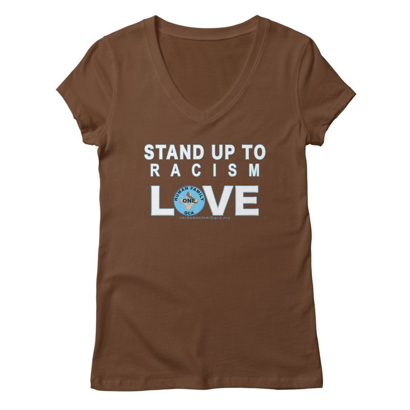 Stand Up To Racism - Love One Human Family Women's Regular V-Neck by Leading Artist Shop