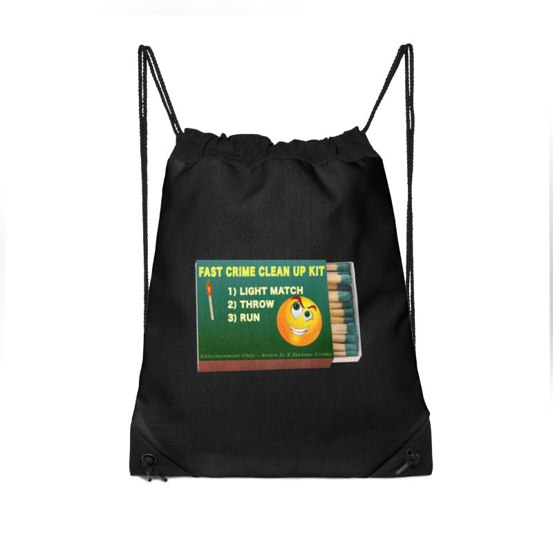 Fast Crime Clean Up Kit - Funny Accessories Drawstring Bag Bag by Leading Artist Shop