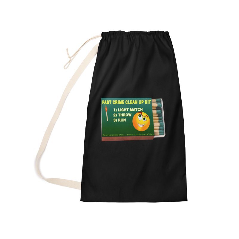 Fast Crime Clean Up Kit - Funny Accessories Laundry Bag Bag by Leading Artist Shop
