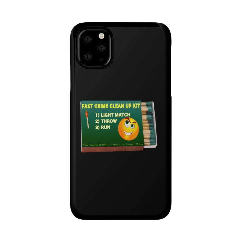 Fast Crime Clean Up Kit - Funny Accessories Phone Case by Leading Artist Shop