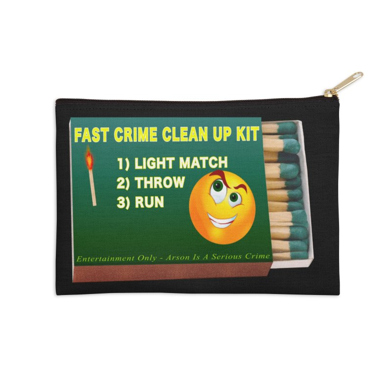 Fast Crime Clean Up Kit - Funny Accessories Zip Pouch by Leading Artist Shop