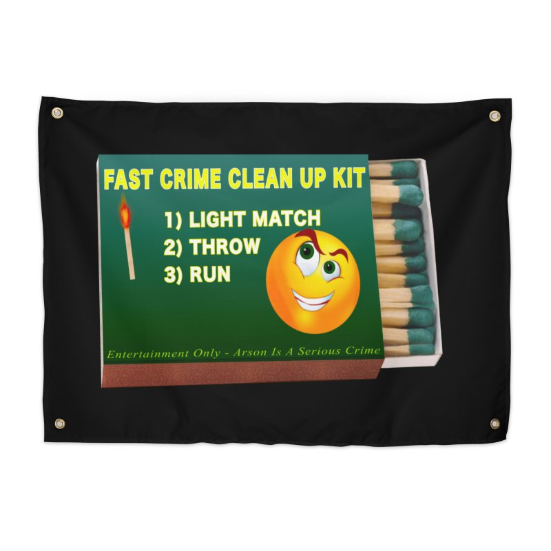 Fast Crime Clean Up Kit - Funny Home Tapestry by Leading Artist Shop