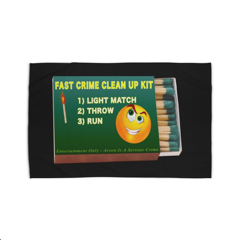 Fast Crime Clean Up Kit - Funny Home Rug by Leading Artist Shop