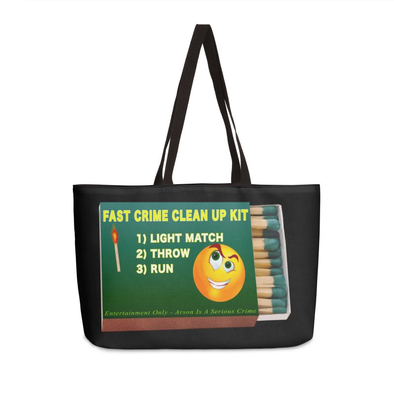 Fast Crime Clean Up Kit - Funny Accessories Weekender Bag Bag by Leading Artist Shop