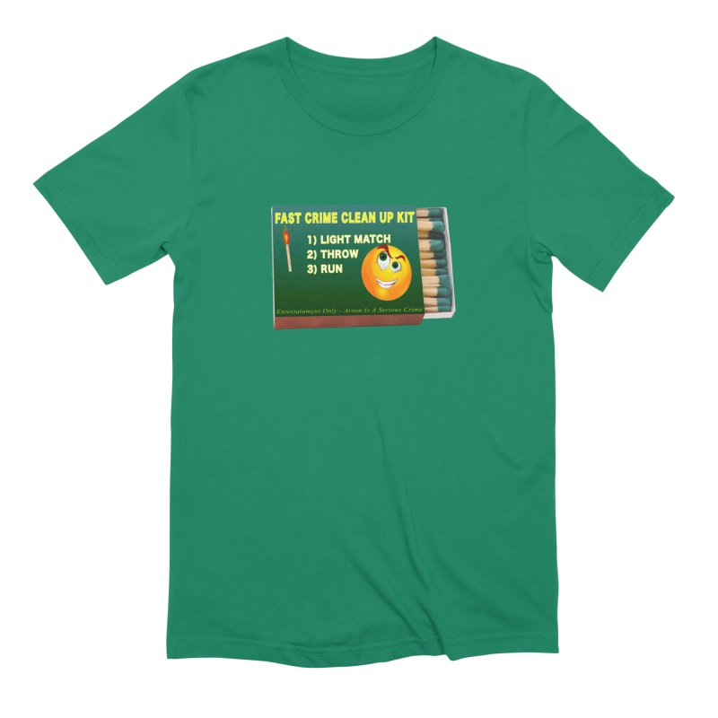 Fast Crime Clean Up Kit - Funny Men's Extra Soft T-Shirt by Leading Artist Shop