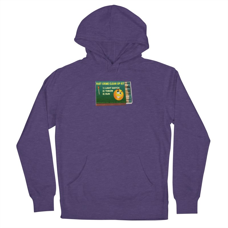 Fast Crime Clean Up Kit - Funny Women's French Terry Pullover Hoody by Leading Artist Shop