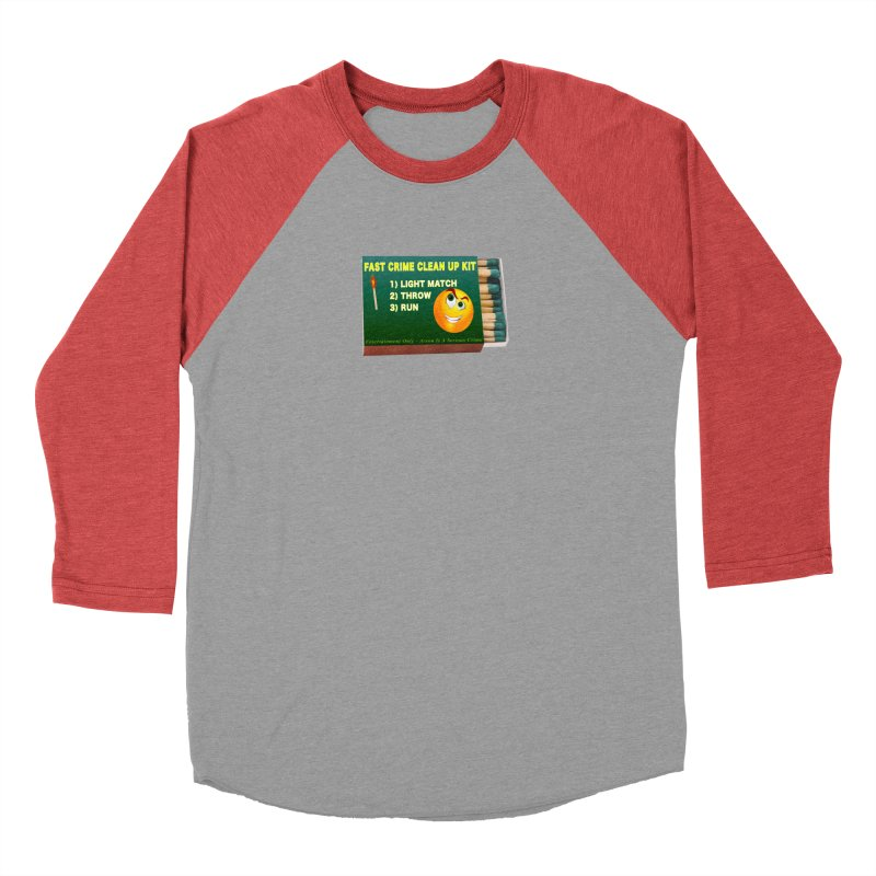 Fast Crime Clean Up Kit - Funny Men's Baseball Triblend Longsleeve T-Shirt by Leading Artist Shop