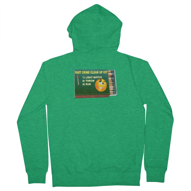 Fast Crime Clean Up Kit - Funny Men's French Terry Zip-Up Hoody by Leading Artist Shop