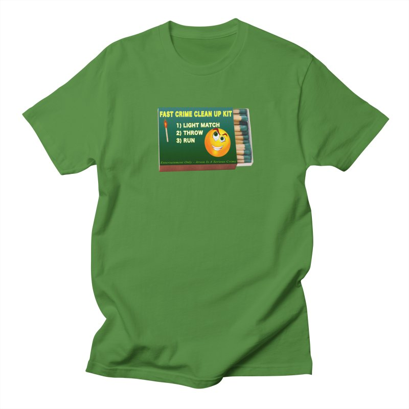 Fast Crime Clean Up Kit - Funny Men's Regular T-Shirt by Leading Artist Shop