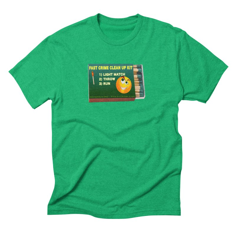 Fast Crime Clean Up Kit - Funny Men's Triblend T-Shirt by Leading Artist Shop