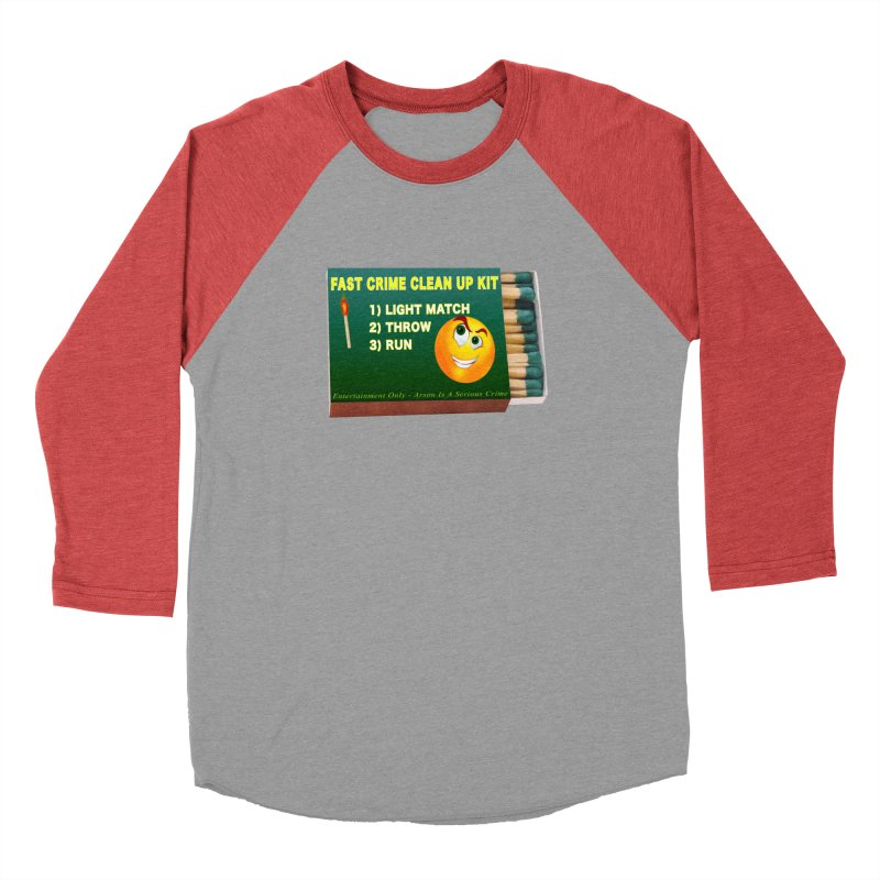 Fast Crime Clean Up Kit - Funny Women's Baseball Triblend Longsleeve T-Shirt by Leading Artist Shop