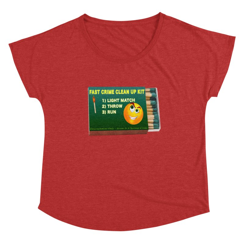 Fast Crime Clean Up Kit - Funny Women's Dolman Scoop Neck by Leading Artist Shop