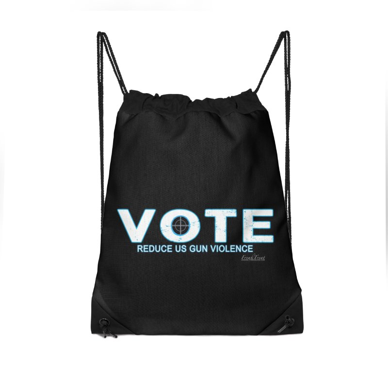 Vote To Reduce Gun Violence Accessories Drawstring Bag Bag by Leading Artist Shop