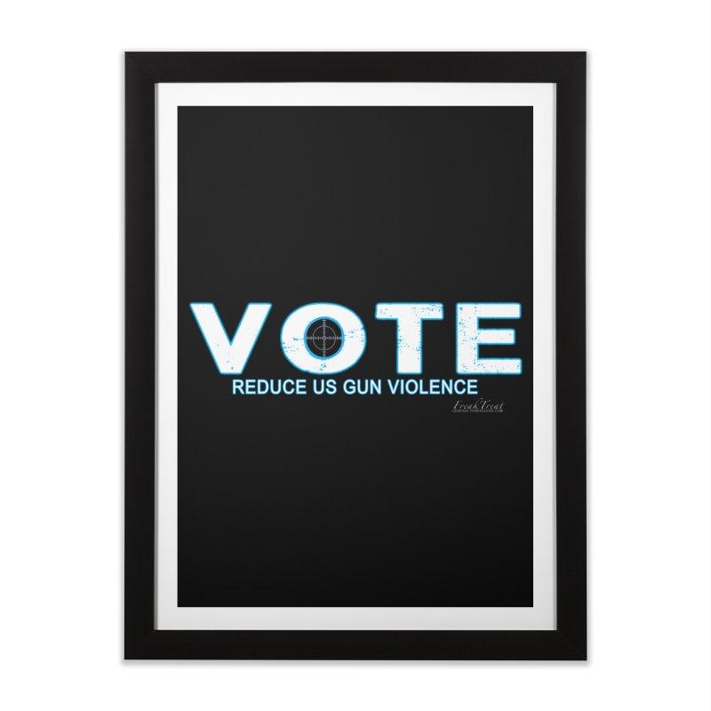 Vote To Reduce Gun Violence Home Framed Fine Art Print by Leading Artist Shop