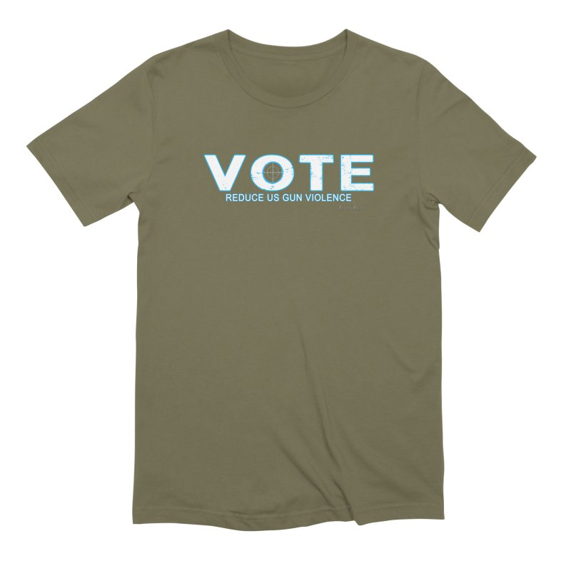 Vote To Reduce Gun Violence Men's Extra Soft T-Shirt by Leading Artist Shop