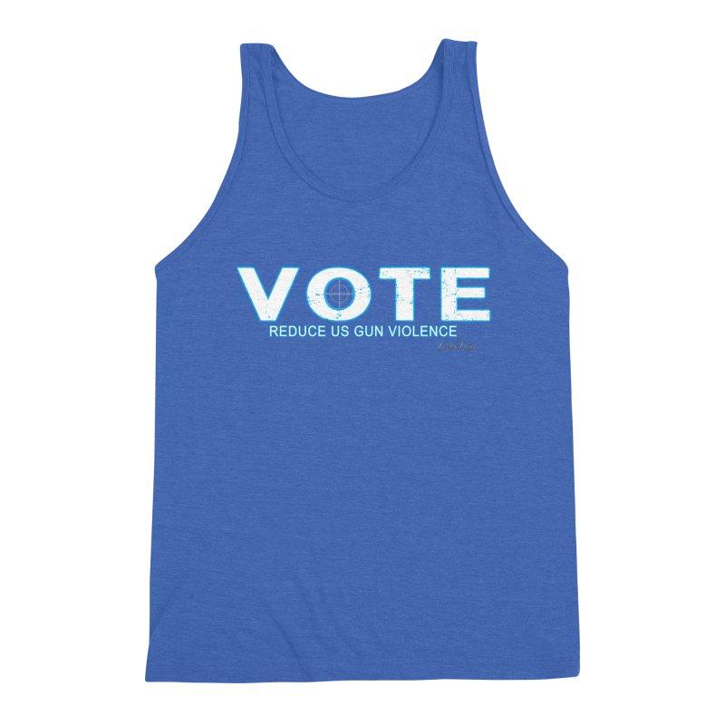 Vote To Reduce Gun Violence Men's Triblend Tank by Leading Artist Shop