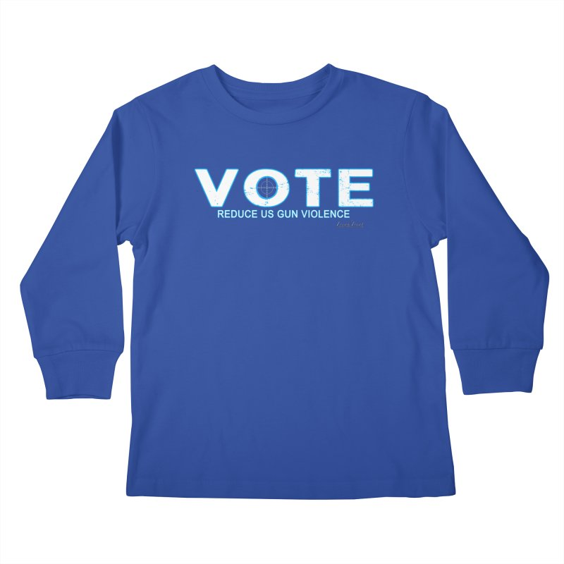 Vote To Reduce Gun Violence Kids Longsleeve T-Shirt by Leading Artist Shop