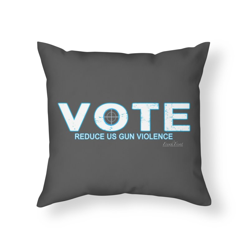 Vote To Reduce Gun Violence Home Throw Pillow by Leading Artist Shop