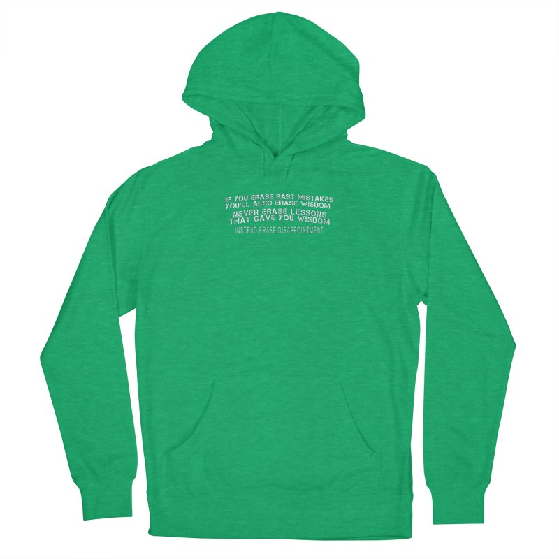 Never Erase Women's French Terry Pullover Hoody by Leading Artist Shop