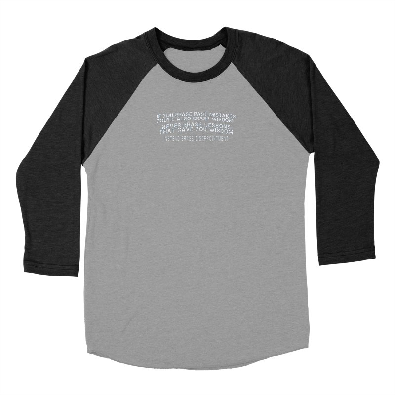 Never Erase Men's Baseball Triblend Longsleeve T-Shirt by Leading Artist Shop