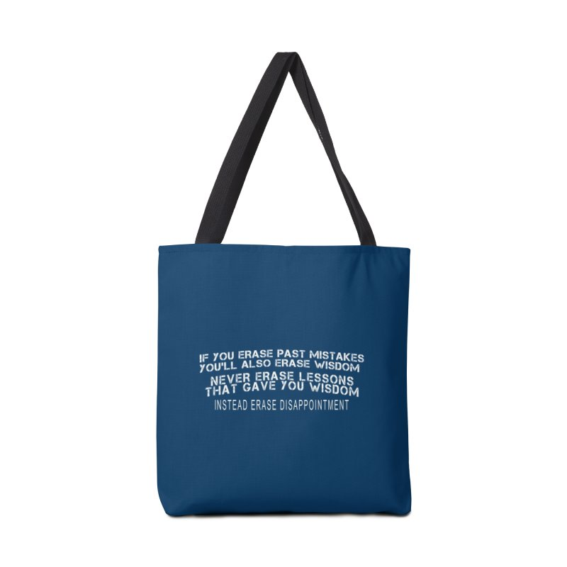 Never Erase Accessories Tote Bag Bag by Leading Artist Shop