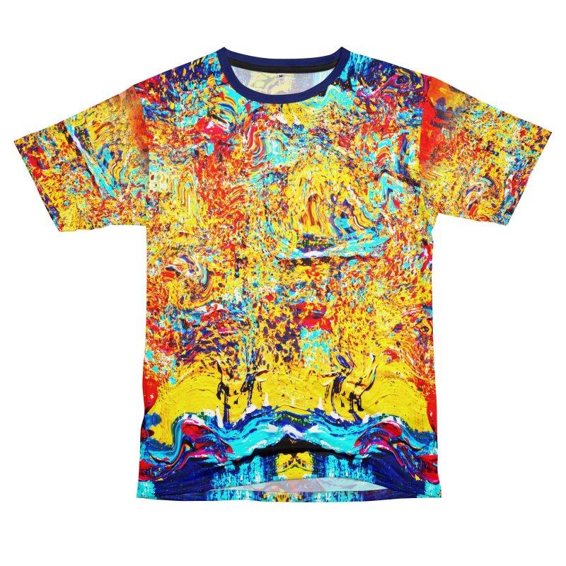 Abstract Art Shirt Men's T-Shirt Cut & Sew by Leading Artist Shop