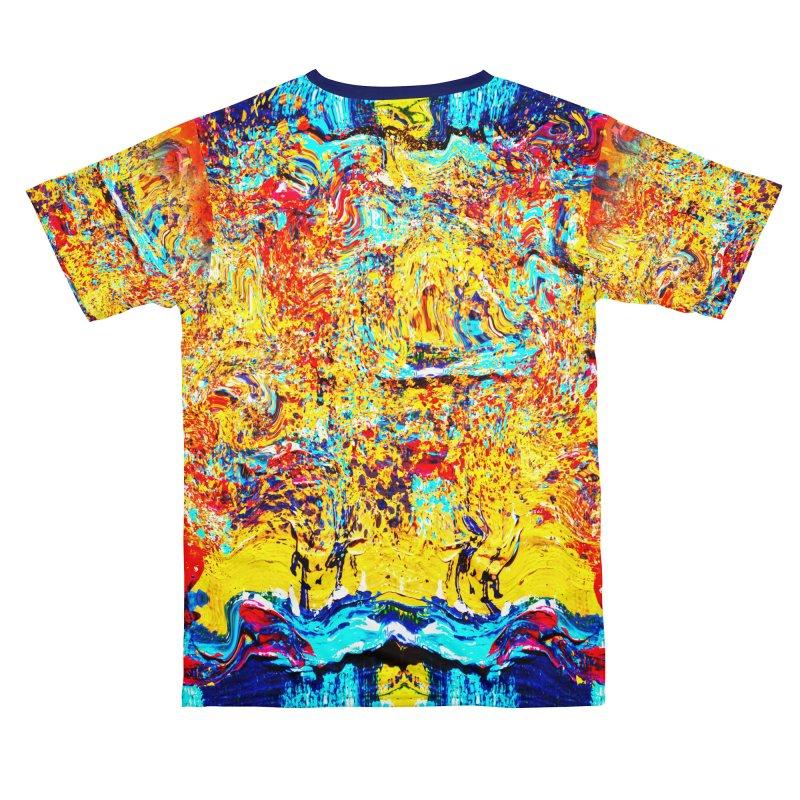 Abstract Art Shirt Men's Cut & Sew by Leading Artist Shop