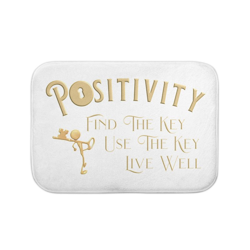 Positivity Key Shirts Home Bath Mat by Leading Artist Shop