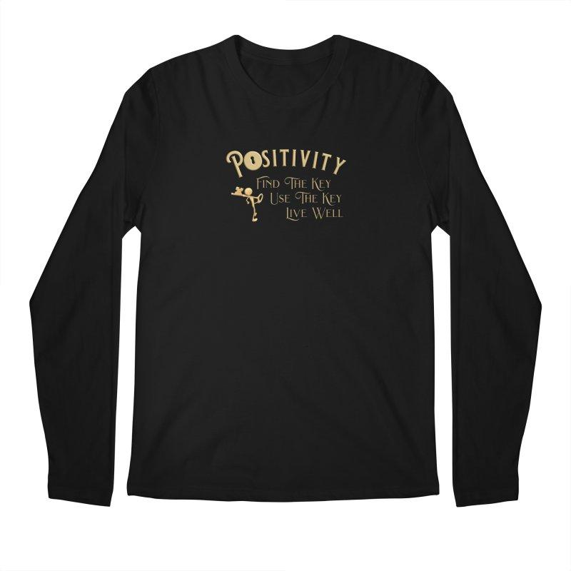 Positivity Key Shirts Men's Regular Longsleeve T-Shirt by Leading Artist Shop