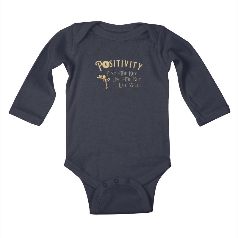 Positivity Key Shirts Kids Baby Longsleeve Bodysuit by Leading Artist Shop