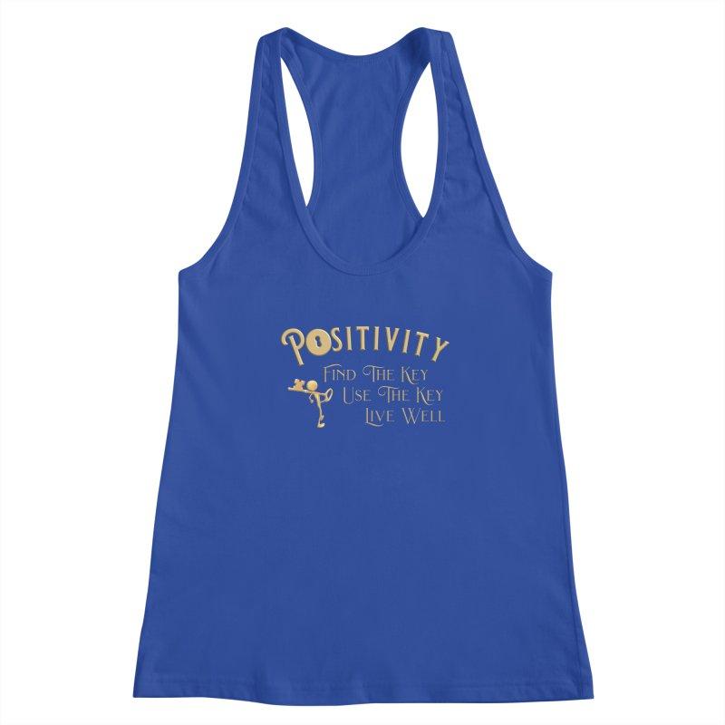 Positivity Key Shirts Women's Racerback Tank by Leading Artist Shop