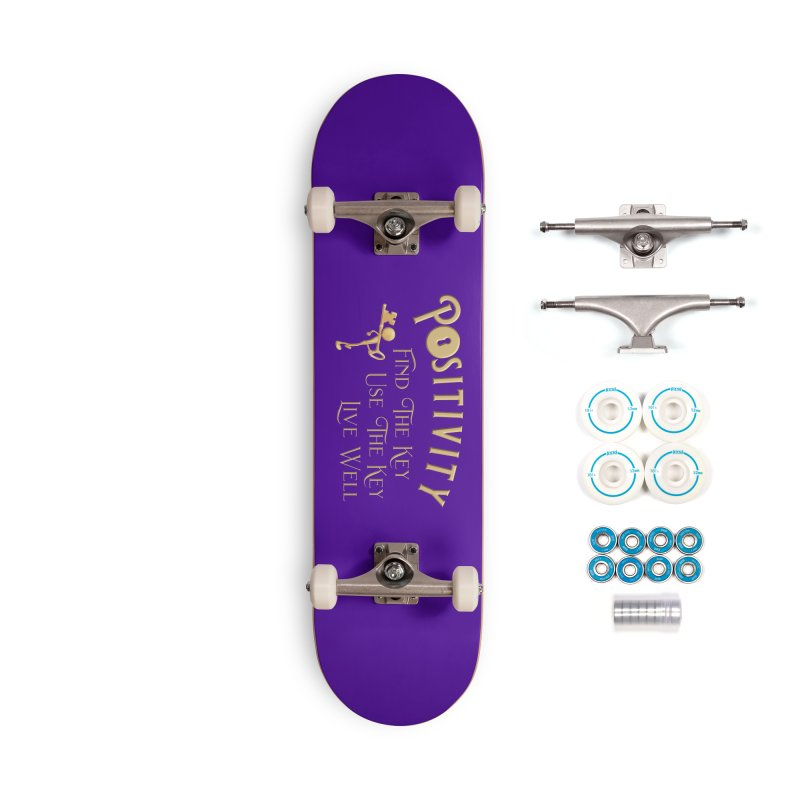 Positivity Key Shirts Accessories Complete - Basic Skateboard by Leading Artist Shop