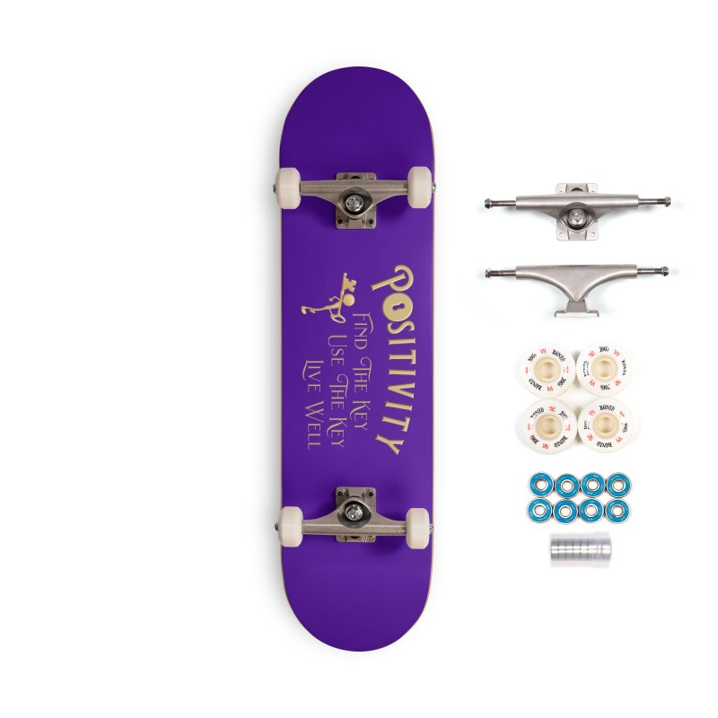 Positivity Key Shirts Accessories Complete - Premium Skateboard by Leading Artist Shop