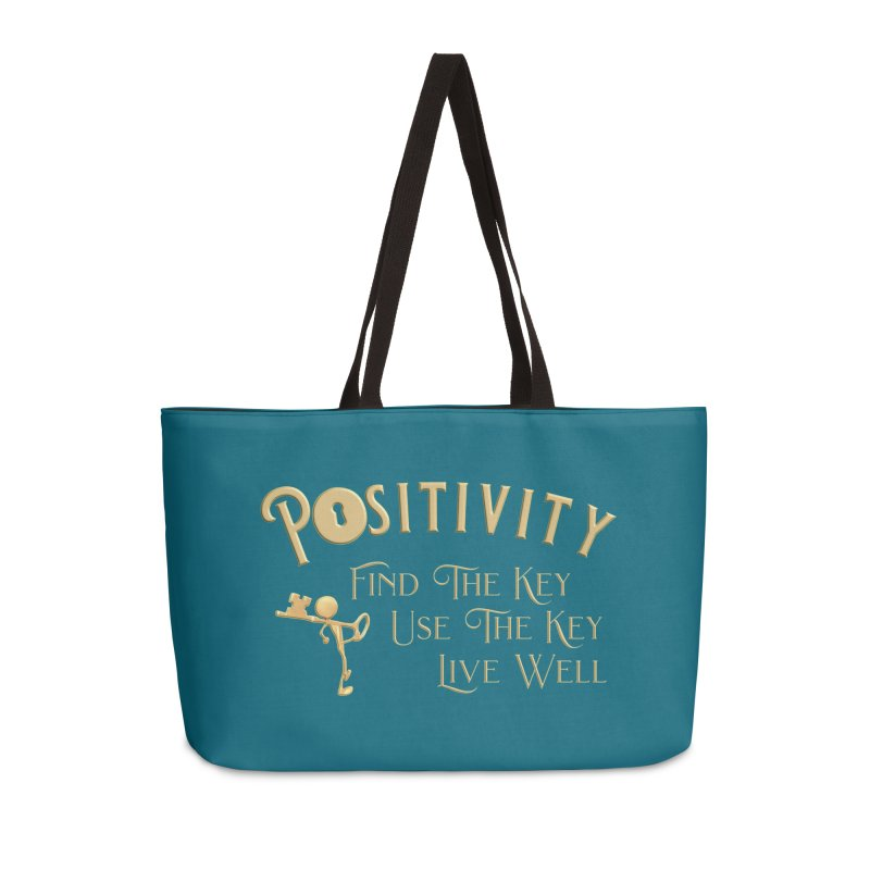 Positivity Key Shirts Accessories Weekender Bag Bag by Leading Artist Shop