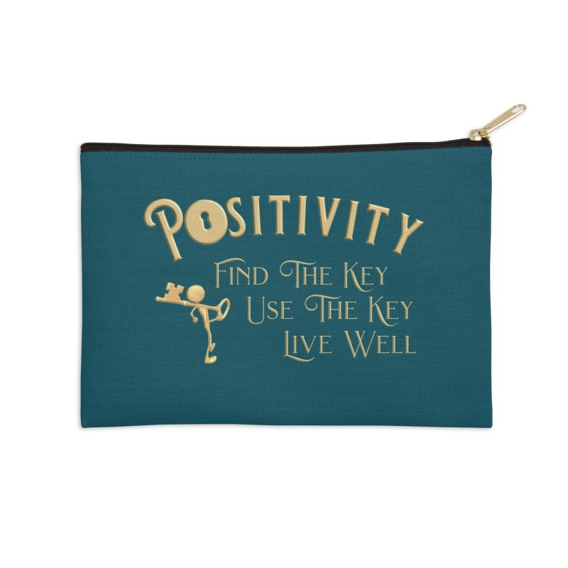 Positivity Key Shirts Accessories Zip Pouch by Leading Artist Shop