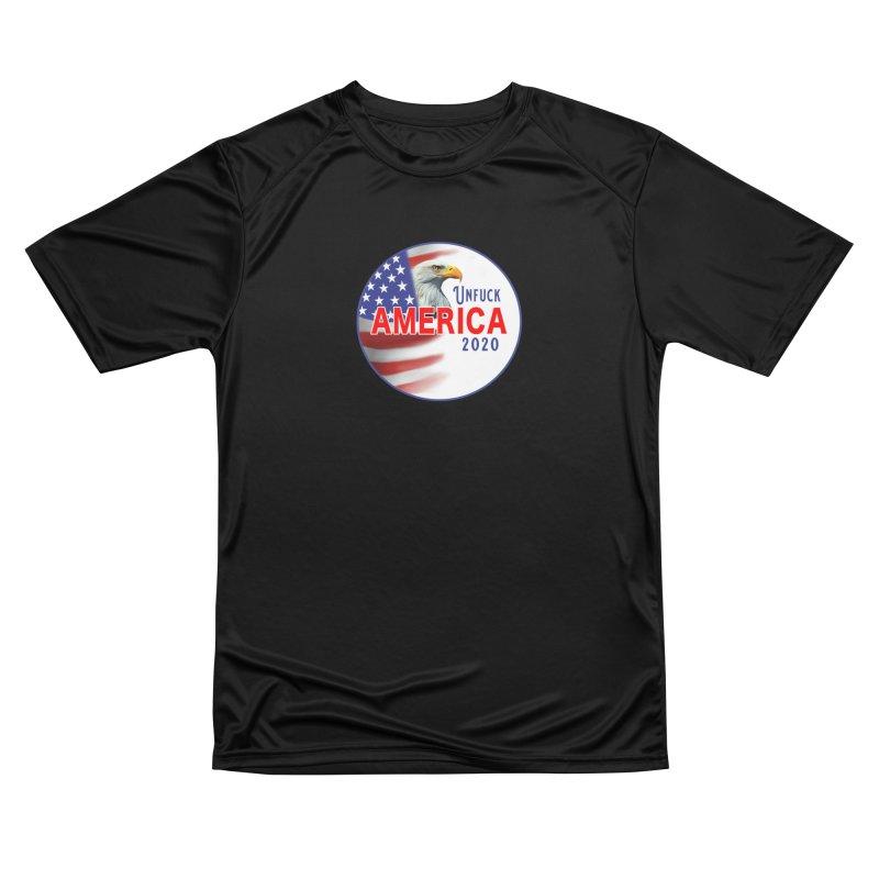 Unfuck America 2020 Women's Performance Unisex T-Shirt by Leading Artist Shop