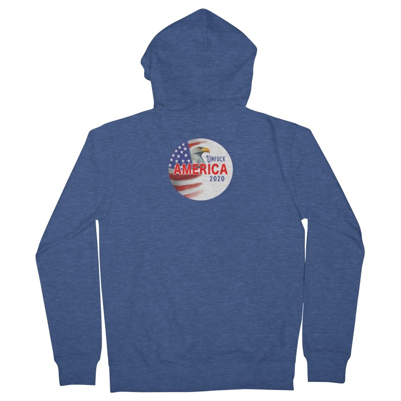 Unfuck America 2020 Men's French Terry Zip-Up Hoody by Leading Artist Shop