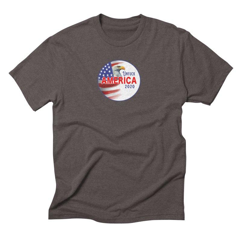 Unfuck America 2020 Men's Triblend T-Shirt by Leading Artist Shop