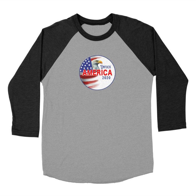 Unfuck America 2020 Women's Baseball Triblend Longsleeve T-Shirt by Leading Artist Shop