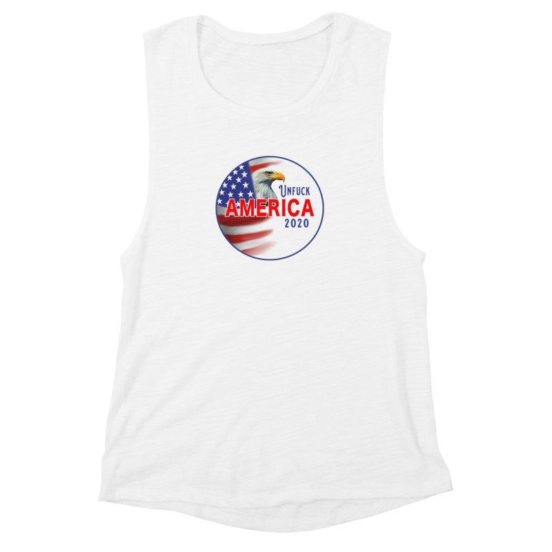 Unfuck America 2020 Women's Muscle Tank by Leading Artist Shop