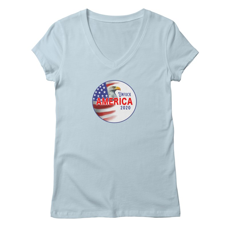 Unfuck America 2020 Women's Regular V-Neck by Leading Artist Shop