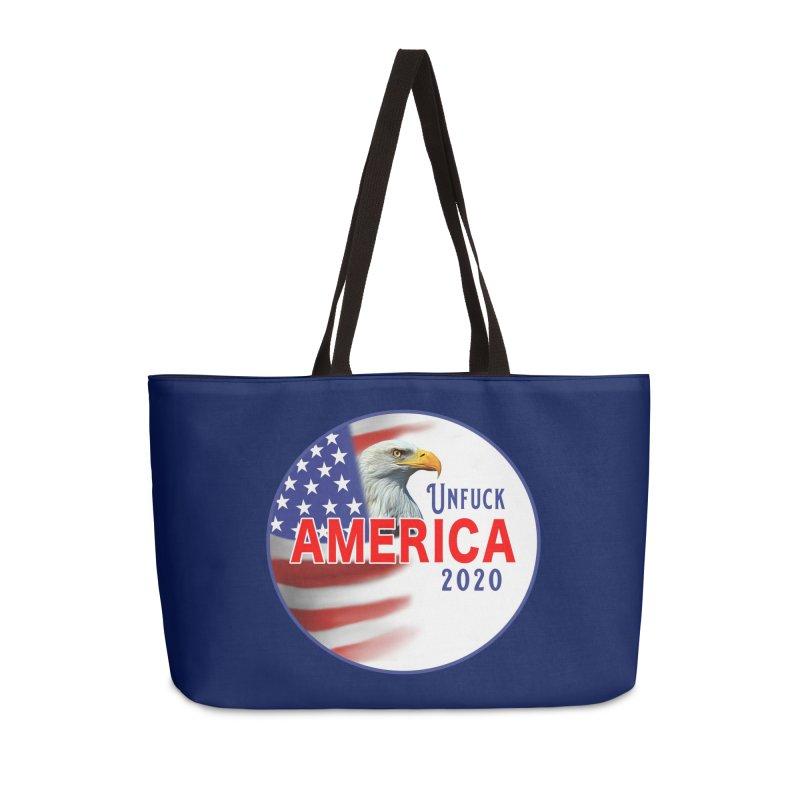 Unfuck America 2020 Accessories Weekender Bag Bag by Leading Artist Shop