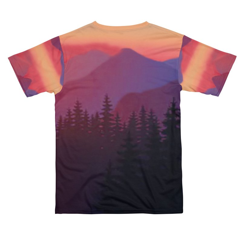 Sunset Woods Mountain Shirts Men's Cut & Sew by Leading Artist Shop