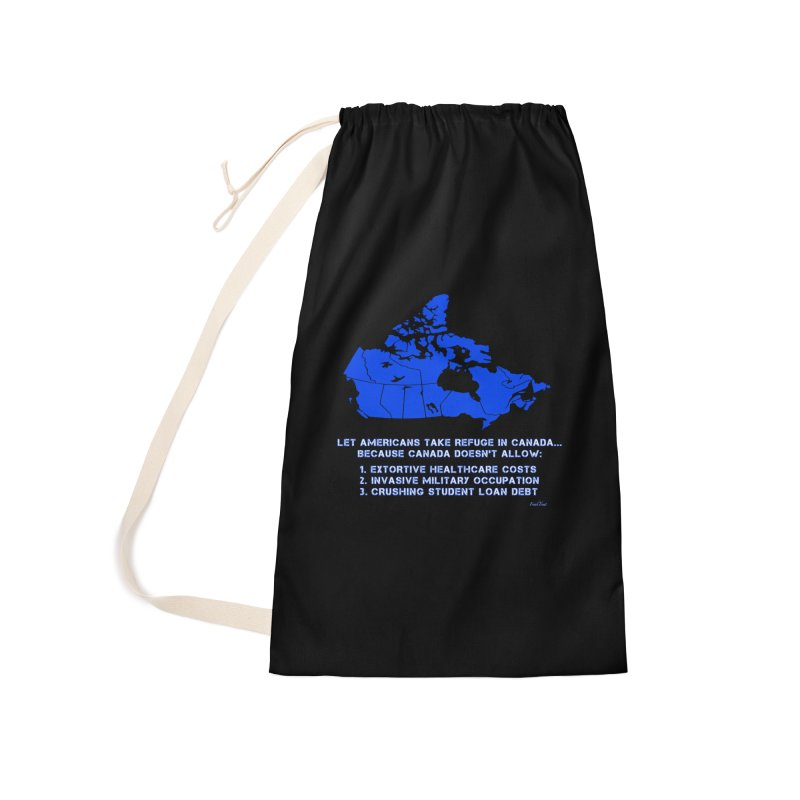 Americans Take Refuge Canada Accessories Laundry Bag Bag by Leading Artist Shop