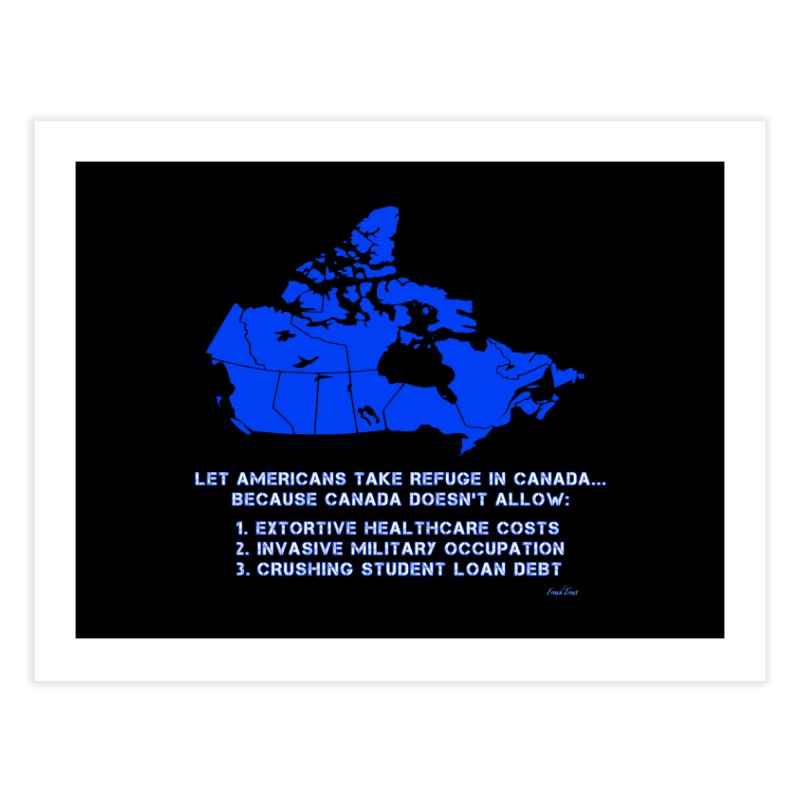 Americans Take Refuge Canada Home Fine Art Print by Leading Artist Shop