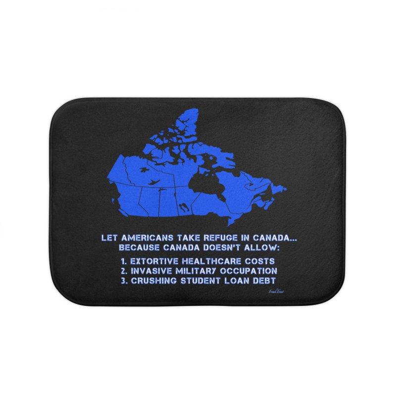 Americans Take Refuge Canada Home Bath Mat by Leading Artist Shop